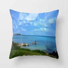 Island of Bermuda Throw Pillow