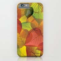 iPhone & iPod Case featuring Pile of Leaves by Leah M. Gunther Photography & Design