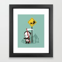 Highway to hell Framed Art Print