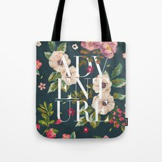 Adventure // Floral Typography Tote Bag