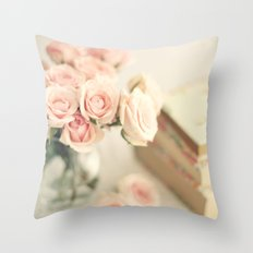 Flowers for reading Throw Pillow