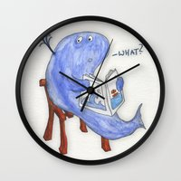 The Whatwhale Wall Clock