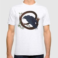 Raven  Mens Fitted Tee Ash Grey SMALL