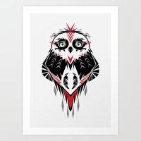 American Indian owl Art Print