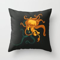 The Magical Lion Throw Pillow