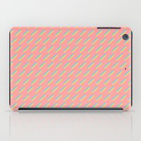 80's Pastel Stripes on Pink  /// www.pencilmeinstationery.com iPad Case