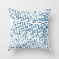 Philadelphia City Map Throw Pillow