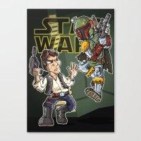 Star Wars - Han Solo X B… Canvas Print