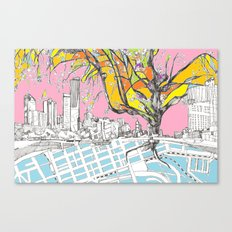 Multi-coloured Melbourne Canvas Print