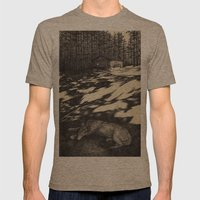 pines Mens Fitted Tee Tri-Coffee SMALL