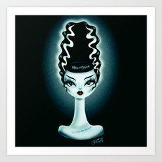 Bride of Fluff Art Print