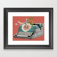 Type Flowers And Death Framed Art Print