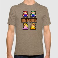 Super Mario Bros Before Hoes Mens Fitted Tee Tri-Coffee SMALL