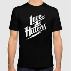 Love Thy Haters - White Black Mens Fitted Tee SMALL