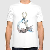 Ocean Memories Mens Fitted Tee White SMALL