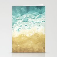 Minimalist Shore - Beach… Stationery Cards