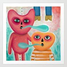 Calabacito & Son Art Print