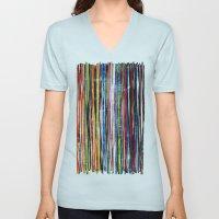 fancy stripes 1 Unisex V-Neck