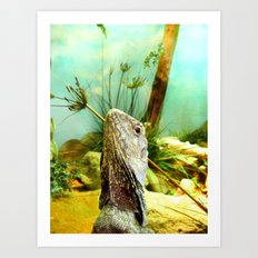 Vacation Lizard Art Print