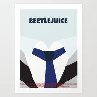 Beetlejuice - Minimalist… Art Print