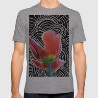 Tulip Drawing Meditation Mens Fitted Tee Athletic Grey SMALL