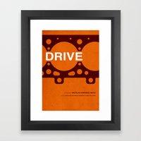 Drive - MINIMALIST POSTER Framed Art Print