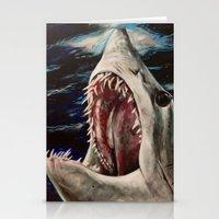 Mako Shark Of Dark Water… Stationery Cards