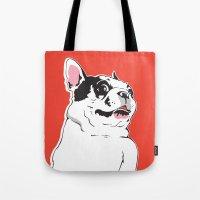 Boston Terrier Side-Eye Tote Bag