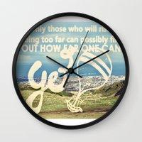 Adventure Quote, hot air balloon Wall Clock