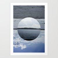 Split Screen Island Art Print