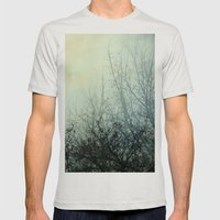 Dark Morning Mens Fitted Tee Silver SMALL