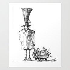 A man in a hat Art Print