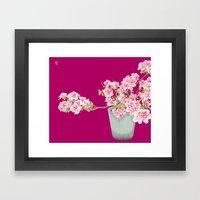 Heavenly Blossom on Pink Framed Art Print