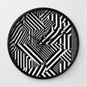 Dazzle Camo #01 - Black & White Wall Clock