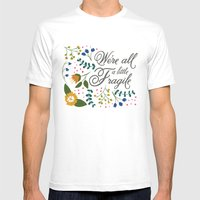We're All a Little Fragile Mens Fitted Tee White SMALL