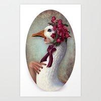 Silly Goose Art Print