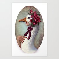 Silly Goose Art Print