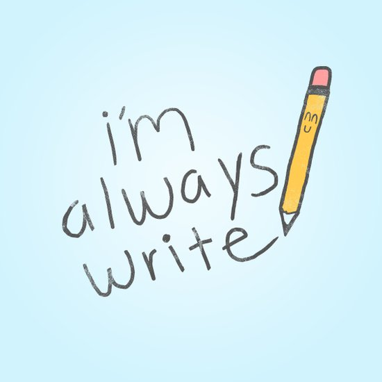I'm Always Write! Art Print