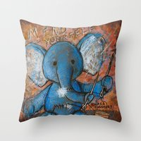 Mend Yourself. No One El… Throw Pillow