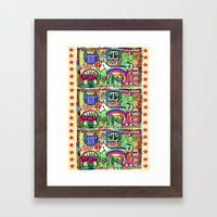 Ride a Rainbow Pony Framed Art Print