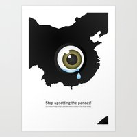 Giant Panda Conservation Art Print