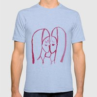 kissing nuns Mens Fitted Tee Athletic Blue SMALL