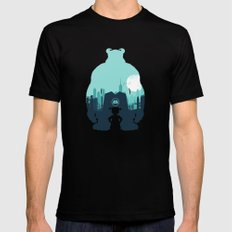 Welcome To Monsters, Inc. Mens Fitted Tee Black SMALL