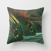Cannon Battery (Painterly) Throw Pillow