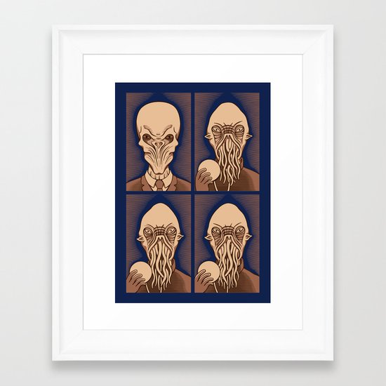 Ood One Out - Silent Framed Art Print
