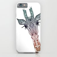 moon iPhone & iPod Cases featuring GiRAFFE by Monika Strigel
