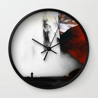 Isolation Fall Wall Clock