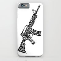 iPhone & iPod Case featuring Pew Pew AR-15 by mawk