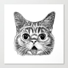 Tongue Out Cat Canvas Print
