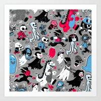 Alt Monster March (Gray) Art Print
